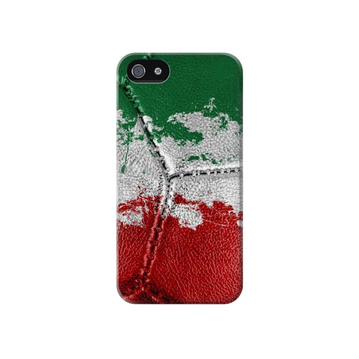 Printed Italy Flag Vintage Football 2018 Iphone 4 Case