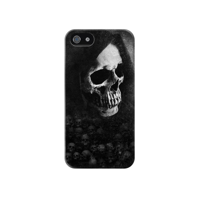 Printed Death Skull Iphone 4 Case