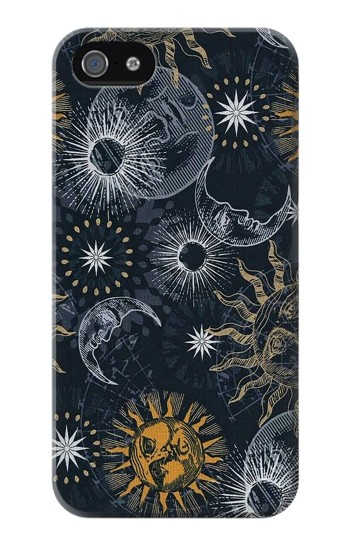 Printed Moon and Sun Iphone 4 Case