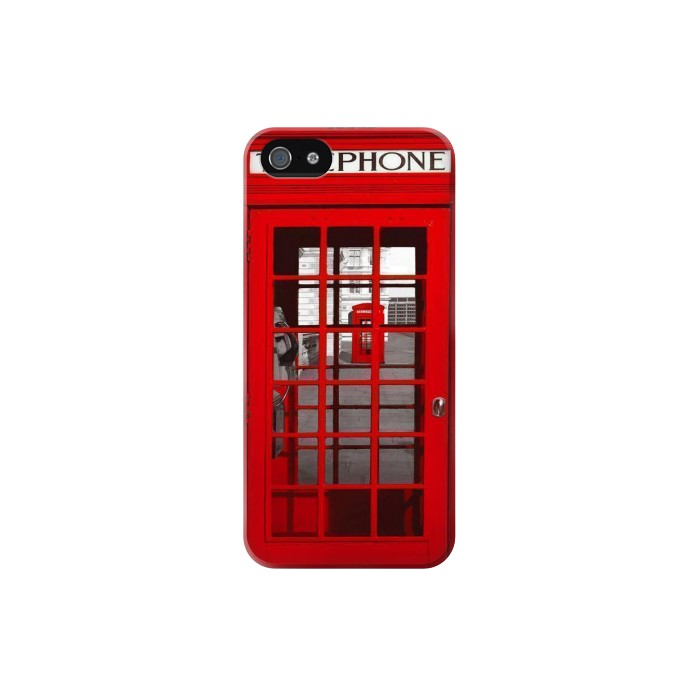 Printed Classic British Red Telephone Box Iphone 5 Case