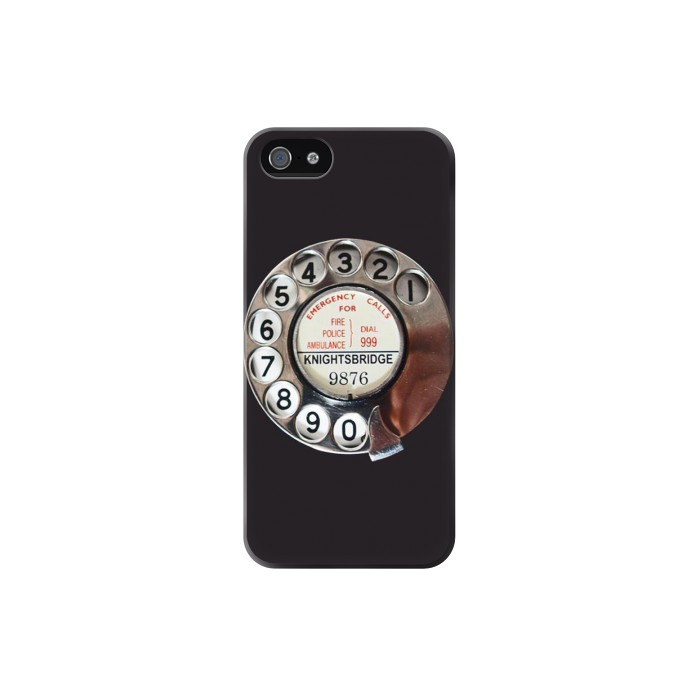 Printed Retro Rotary Phone Dial On Iphone 5 Case