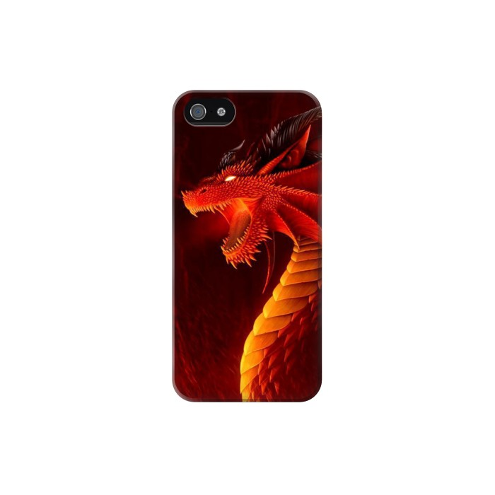 Printed Red Dragon Iphone 5 Case