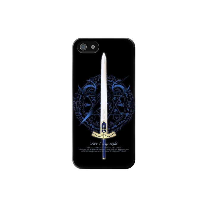 Printed Fate Stay Night Excalibur Iphone 5 Case