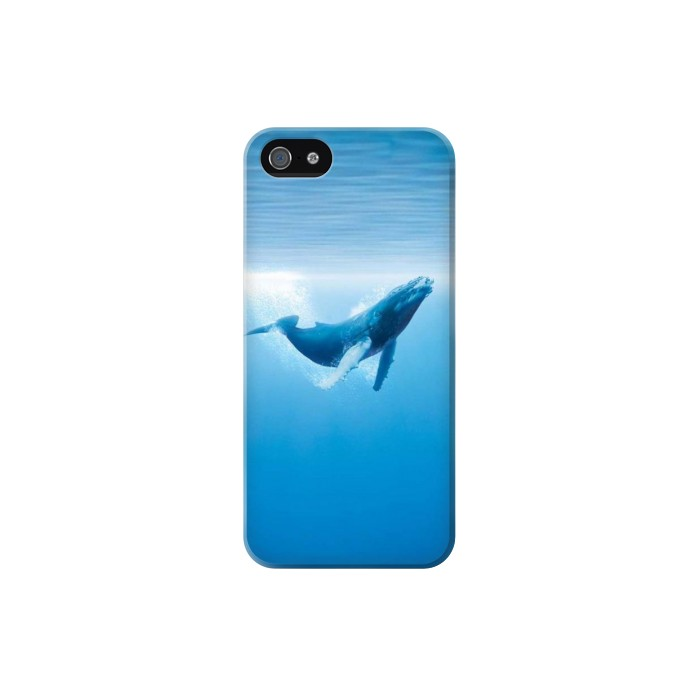 Printed Blue Whale Iphone 5 Case