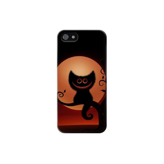 Printed Halloween Cat Iphone 5 Case