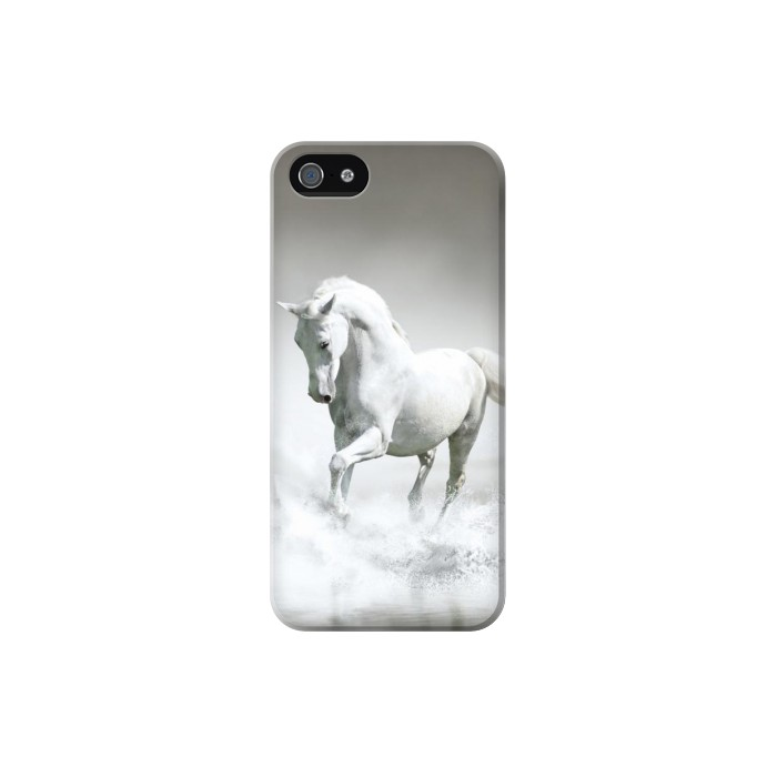 Printed White Horse Iphone 5 Case