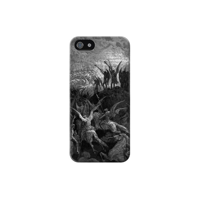 Printed Gustave Dore Paradise Lost Iphone 5 Case
