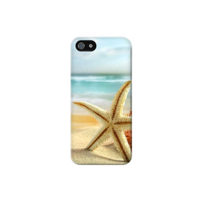 Printed Starfish on the Beach Iphone 5 Case
