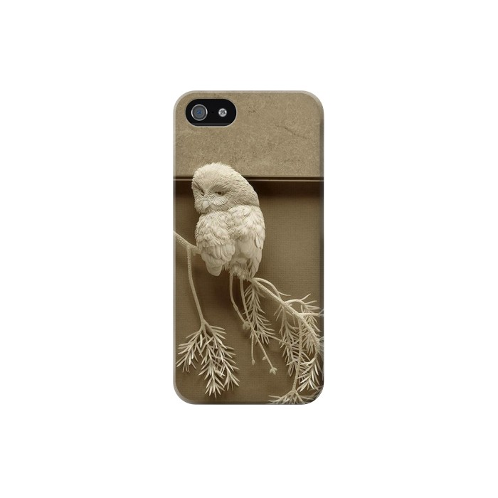 Printed Paper Sculpture Owl Iphone 5 Case