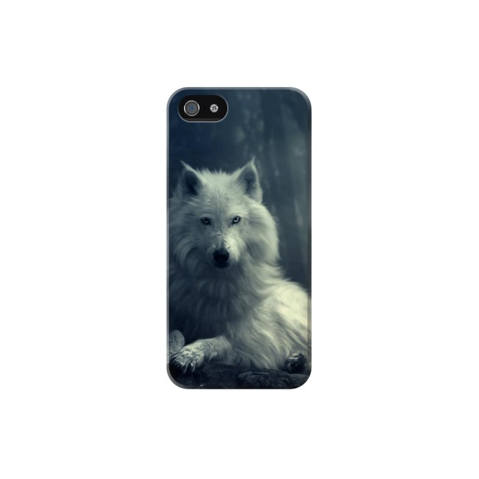 Printed White Wolf Iphone 5 Case
