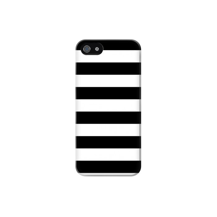 Printed Black and White Striped Iphone 5 Case