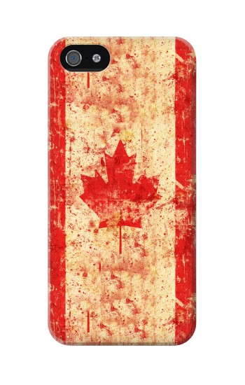 Printed Canada Flag Old Vintage Iphone 5 Case