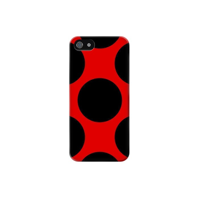Printed Lady bug Dot Pattern Iphone 5 Case