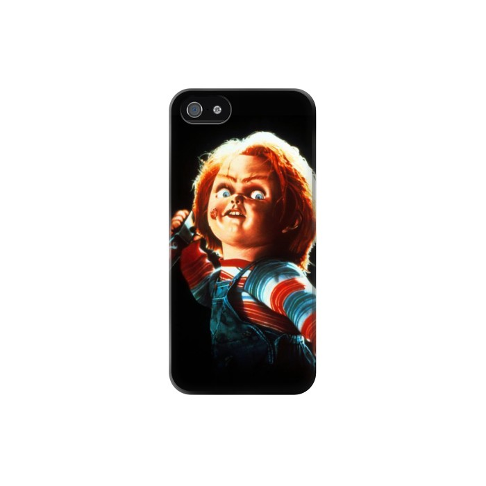 Printed Chucky With Knife Iphone 5 Case