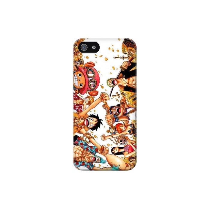 Printed One Piece Straw Hat Luffy Pirate Crew Iphone 5 Case