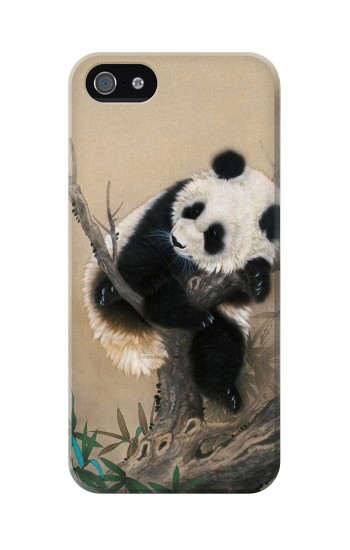 Printed Panda Fluffy Art Painting Iphone 5 Case