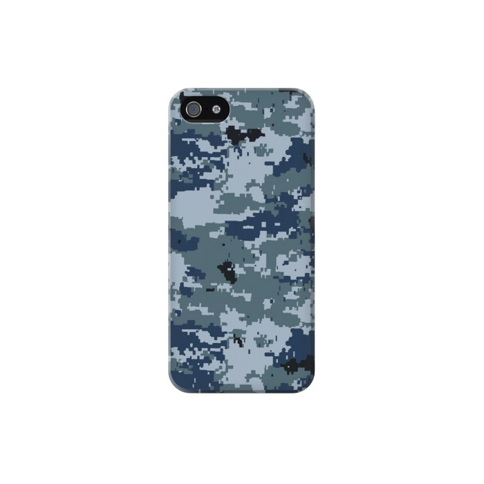 Printed Navy Camo Camouflage Graphic Iphone 5 Case