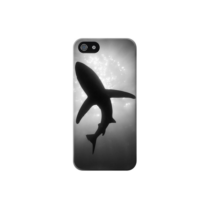 Printed Shark Monochrome Iphone 5 Case