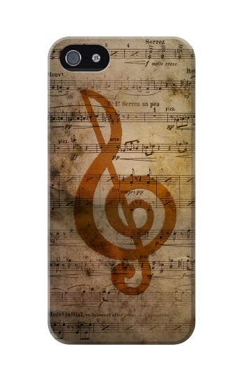 Printed Sheet Music Notes Iphone 5 Case