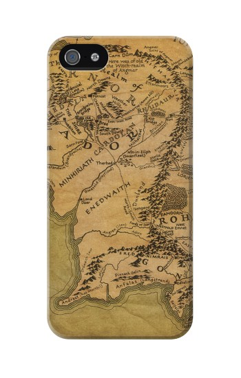 Printed The Lord Of The Rings Middle Earth Map Iphone 5 Case