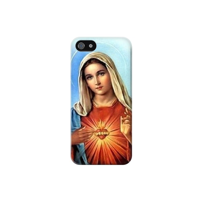 Printed The Virgin Mary Santa Maria Iphone 5 Case