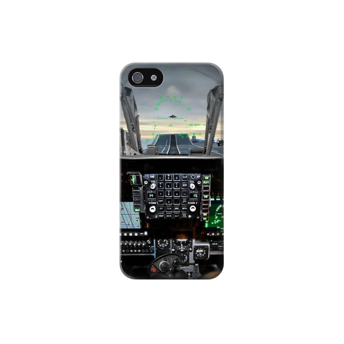 Printed Fighter Jet Aircraft Cockpit Iphone 5 Case