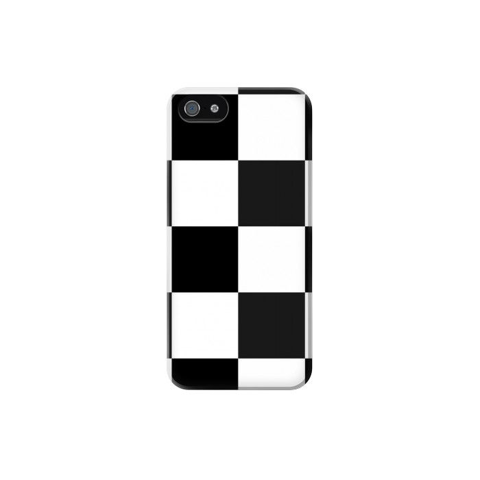 Printed Black and White Checkerboard Iphone 5 Case