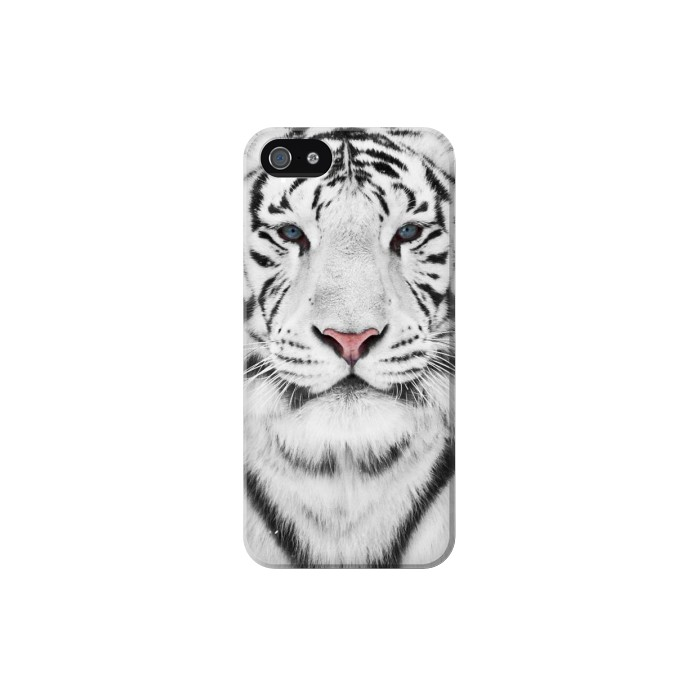 Printed White Tiger Iphone 5 Case