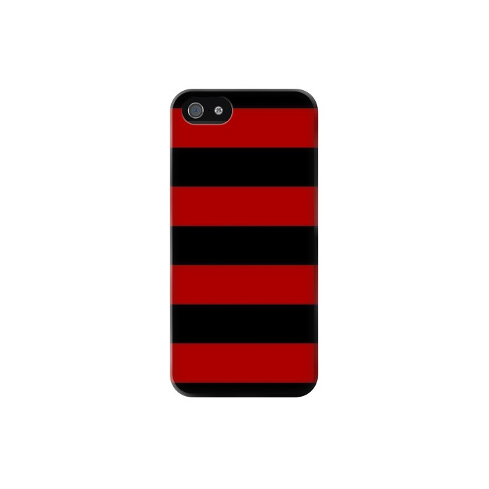 Printed Black and Red Striped Iphone 5 Case