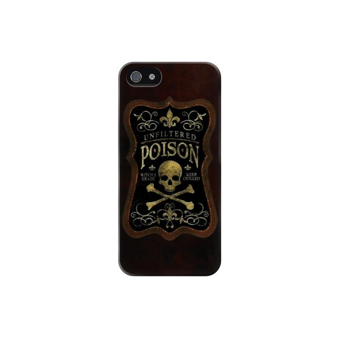 Printed Unfiltered Poison Vintage Glass Bottle Iphone 5 Case