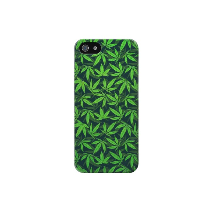 Printed Marijuana Pattern Iphone 5 Case