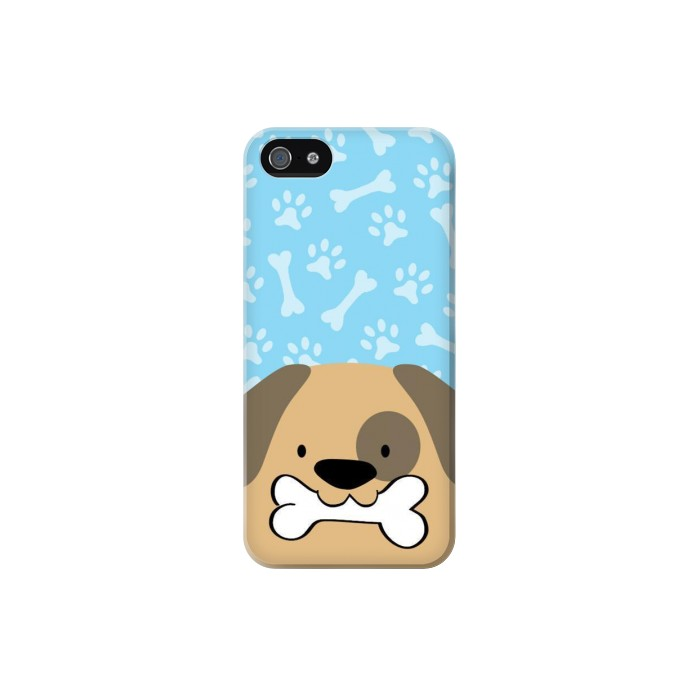 Printed Cute Dog Cartoon Iphone 5 Case