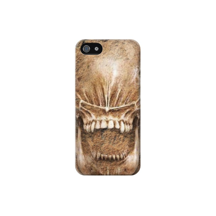 Printed Alien Skull Fossil Iphone 5 Case