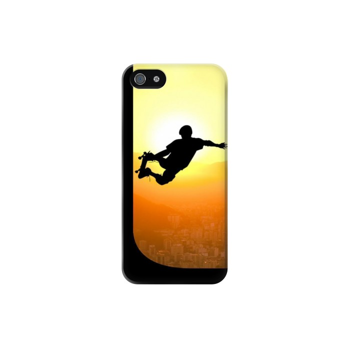 Printed Extreme Skateboard Sunset Iphone 5 Case