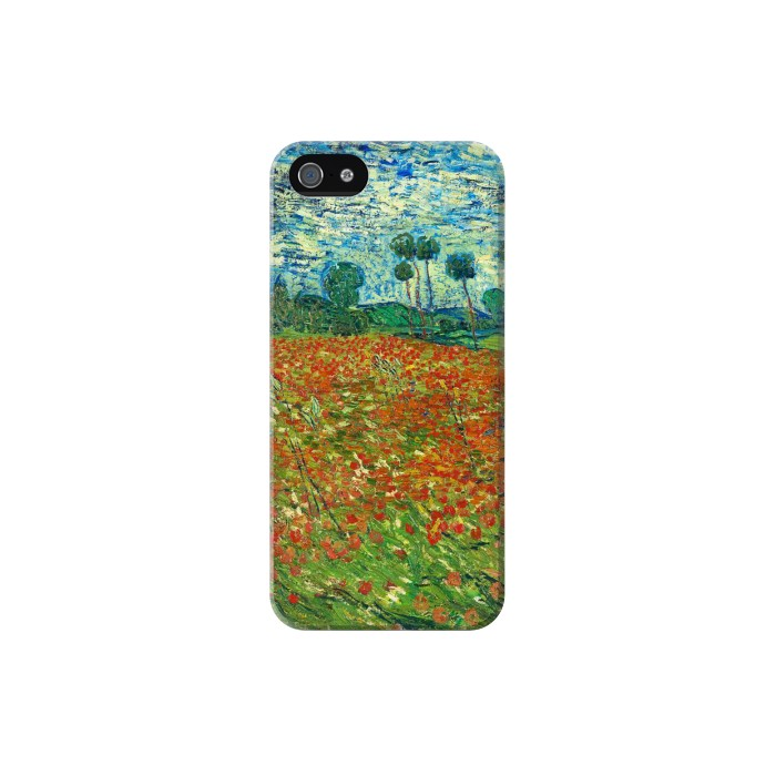Printed Field Of Poppies Vincent Van Gogh Iphone 5 Case