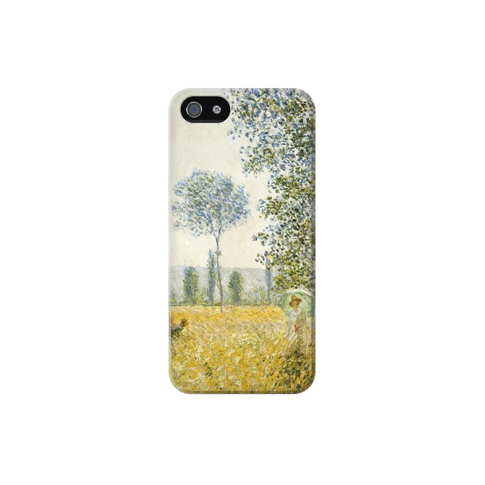 Printed Claude Monet Fields In Spring Iphone 5 Case