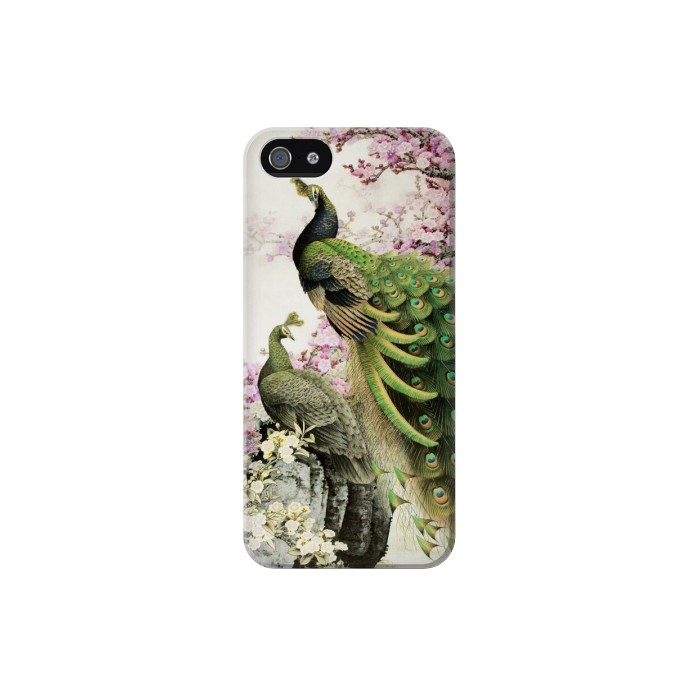 Printed Peacock Chinese Brush Painting Iphone 5 Case
