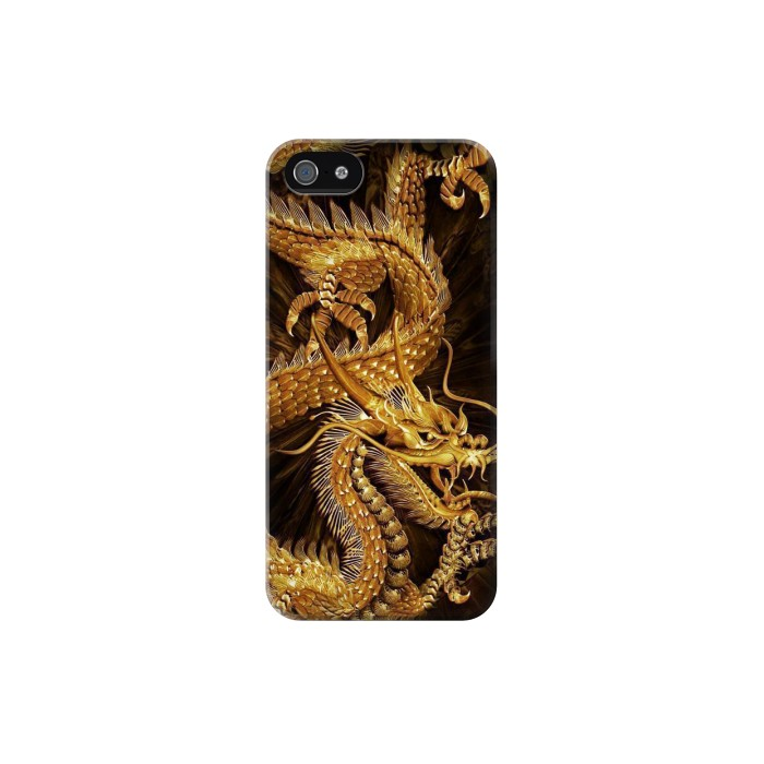Printed Chinese Gold Dragon Printed Iphone 5 Case