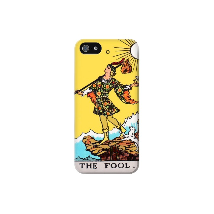Printed Tarot Card The Fool Iphone 5 Case