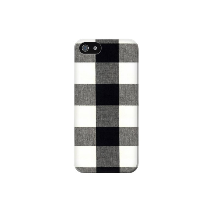 Printed Black and White Buffalo Check Pattern Iphone 5 Case