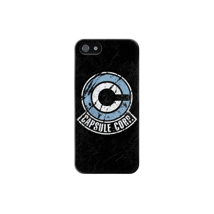 Printed Dragon Ball Capsule Corporation Black Rock Iphone 5 Case