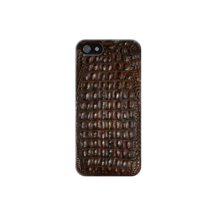 Printed Brown Skin Alligator Graphic Printed Iphone 5 Case