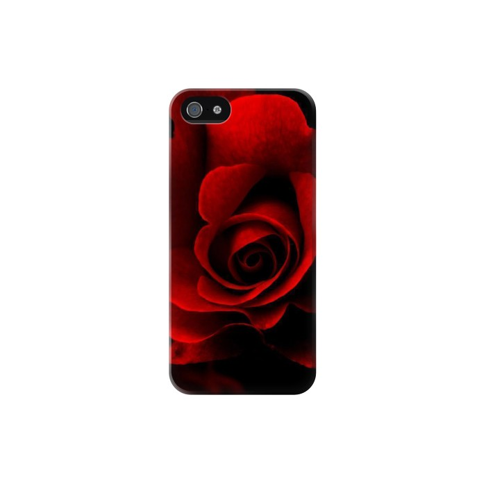 Printed Red Rose Iphone 5 Case