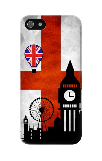 Printed England Football Flag Iphone 5 Case