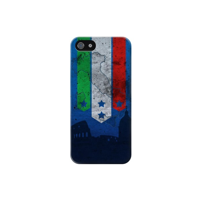 Printed Italy Football Flag Iphone 5 Case