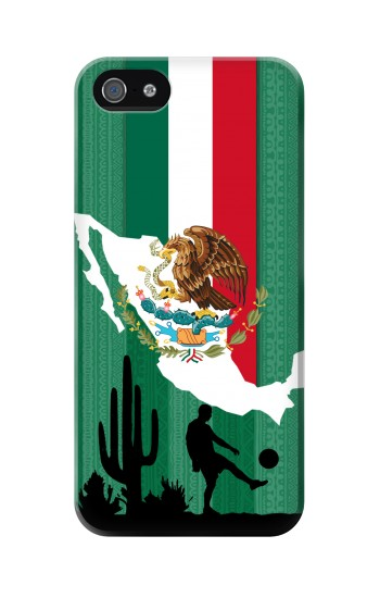 Printed Mexico Football Flag Iphone 5 Case