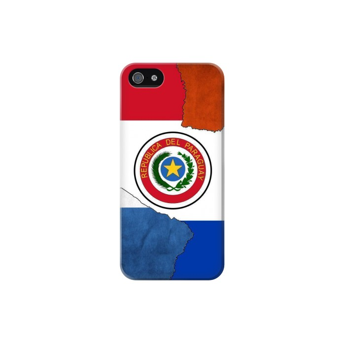 Printed Paraguay Flag Iphone 5 Case
