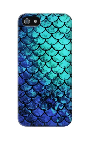Printed Green Mermaid Fish Scale Iphone 5 Case