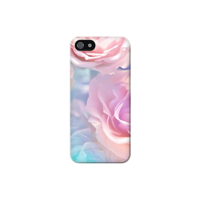 Printed Vintage Pastel Flowers Iphone 5 Case