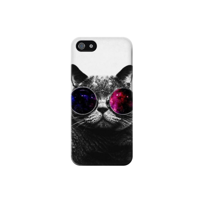 Printed Cool Cat Glasses Iphone 5 Case